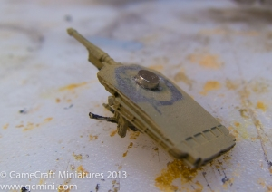 Step 3: Glue the magnet in the turret