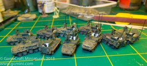Strykers with interiors painted white